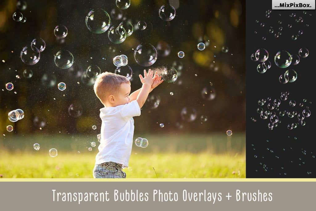 Transparent Bubble Overlays +brushes - $11 - cover 2