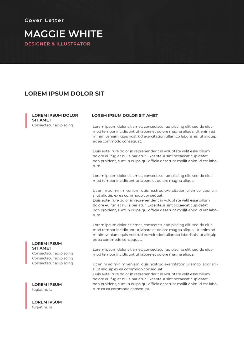 Best College Resume Templates 2020: 5 colors - $8 - cover letter 1
