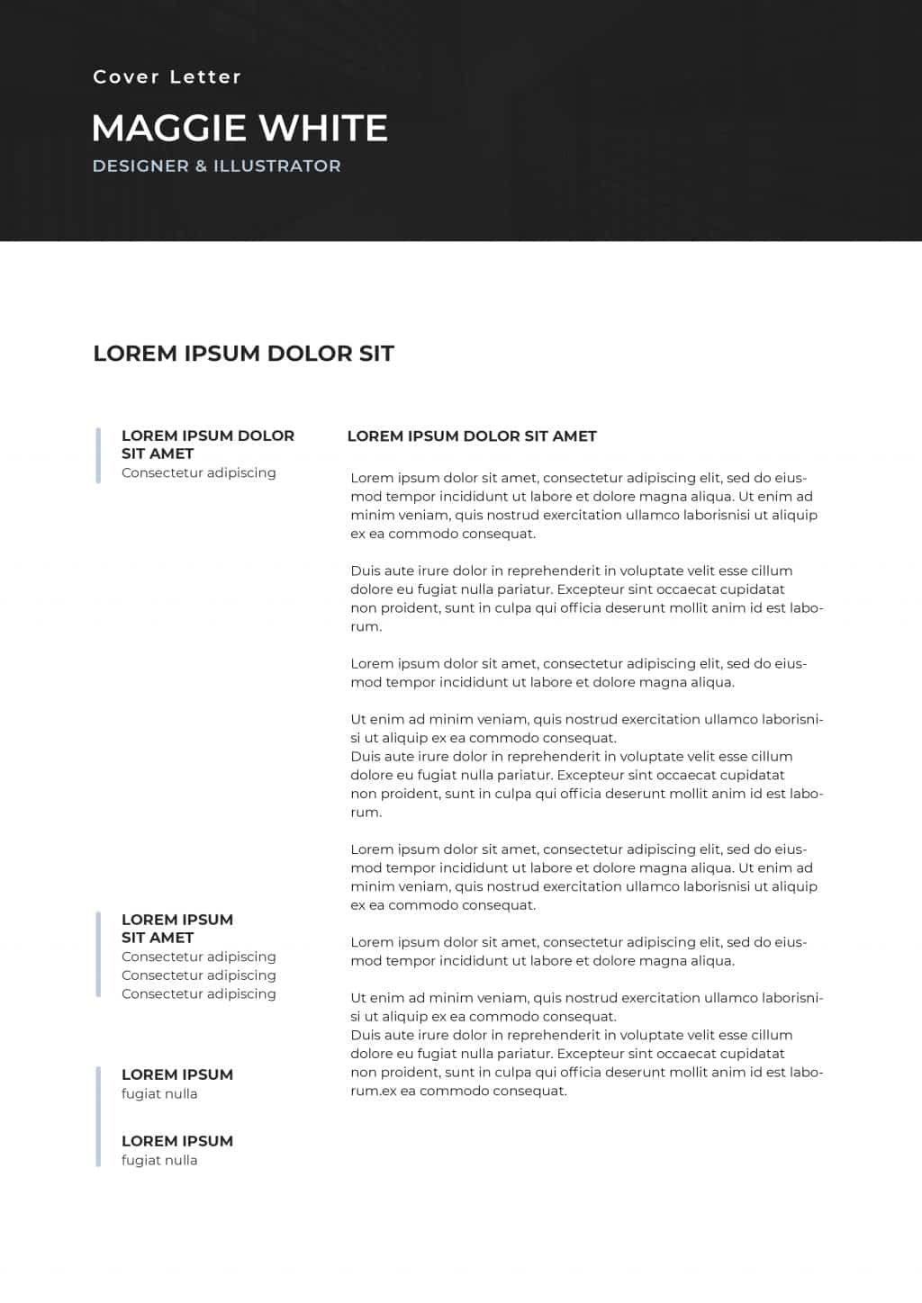Best College Resume Templates 2020: 5 colors - $8 - cover letter 2