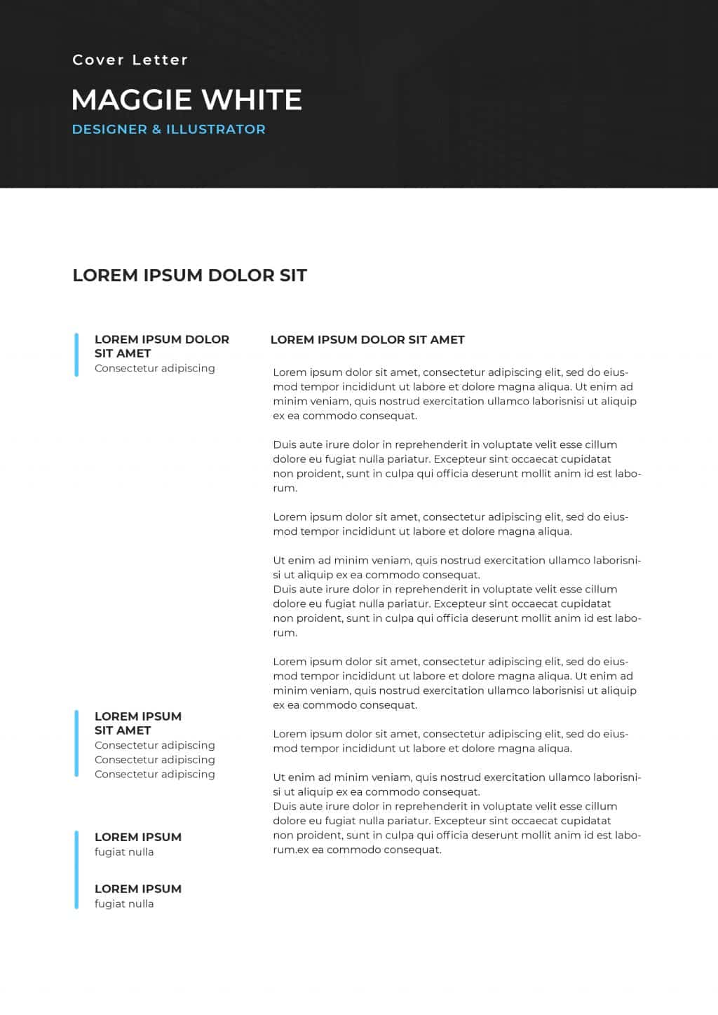 Best College Resume Templates 2020: 5 colors - $8 - cover letter 4
