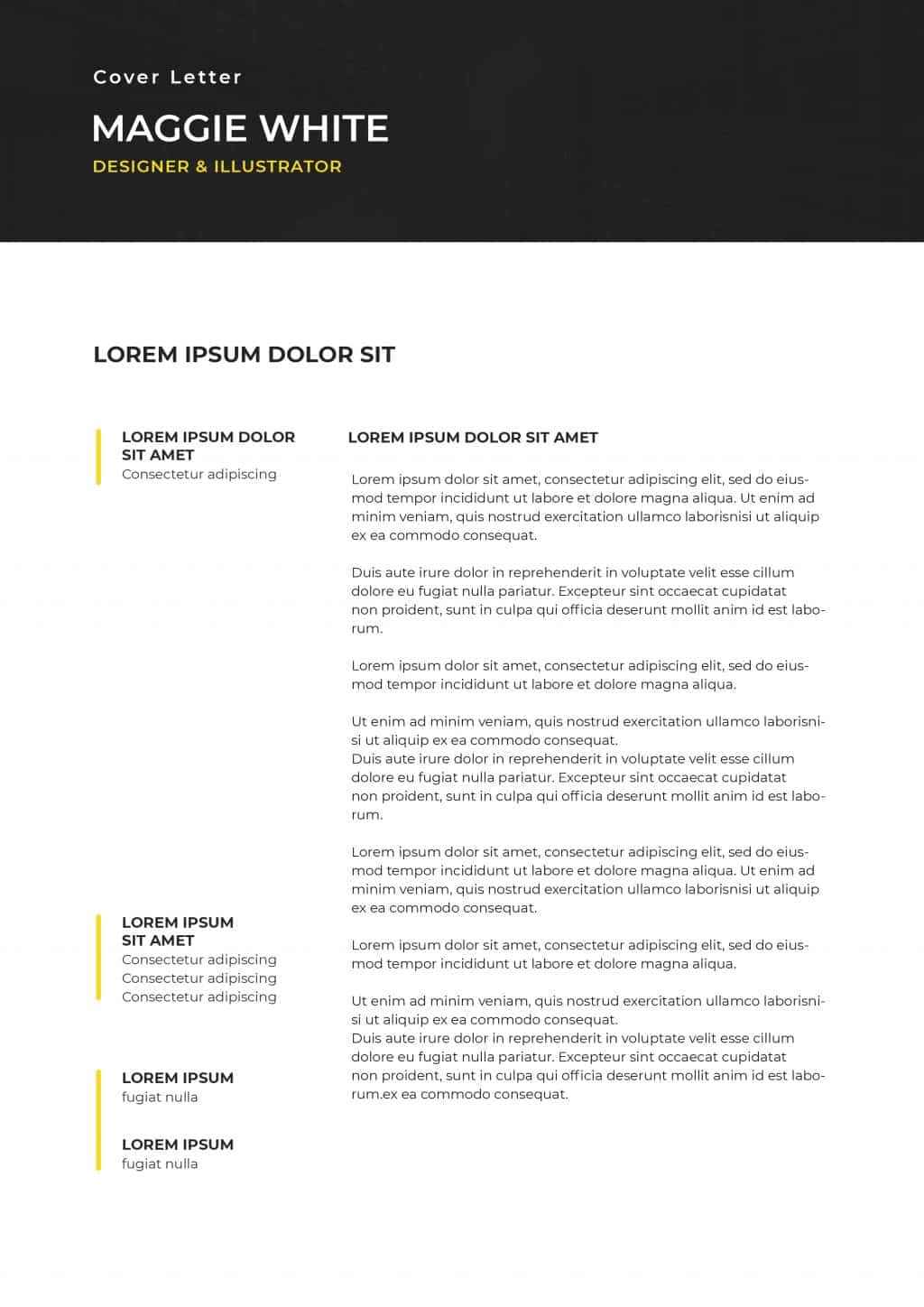 Best College Resume Templates 2020: 5 colors - $8 - cover letter