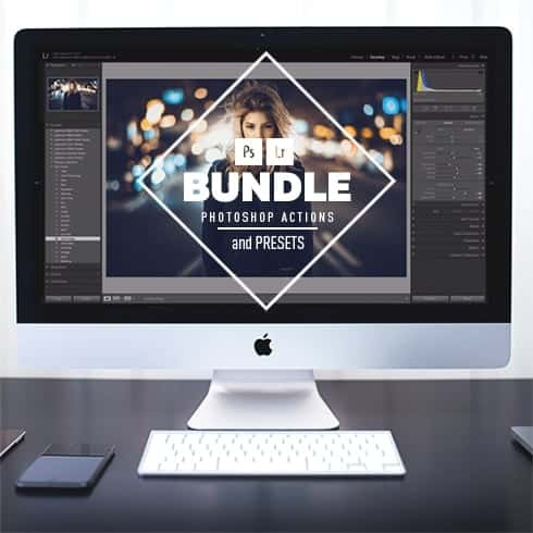 Super Bundle: Photoshop Actions and Presets - cover LEFT min
