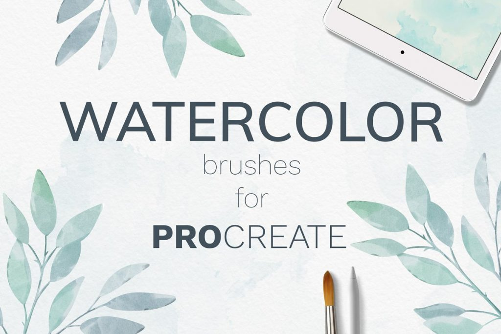 38 Procreate Watercolor Brush Set - $14 - 01