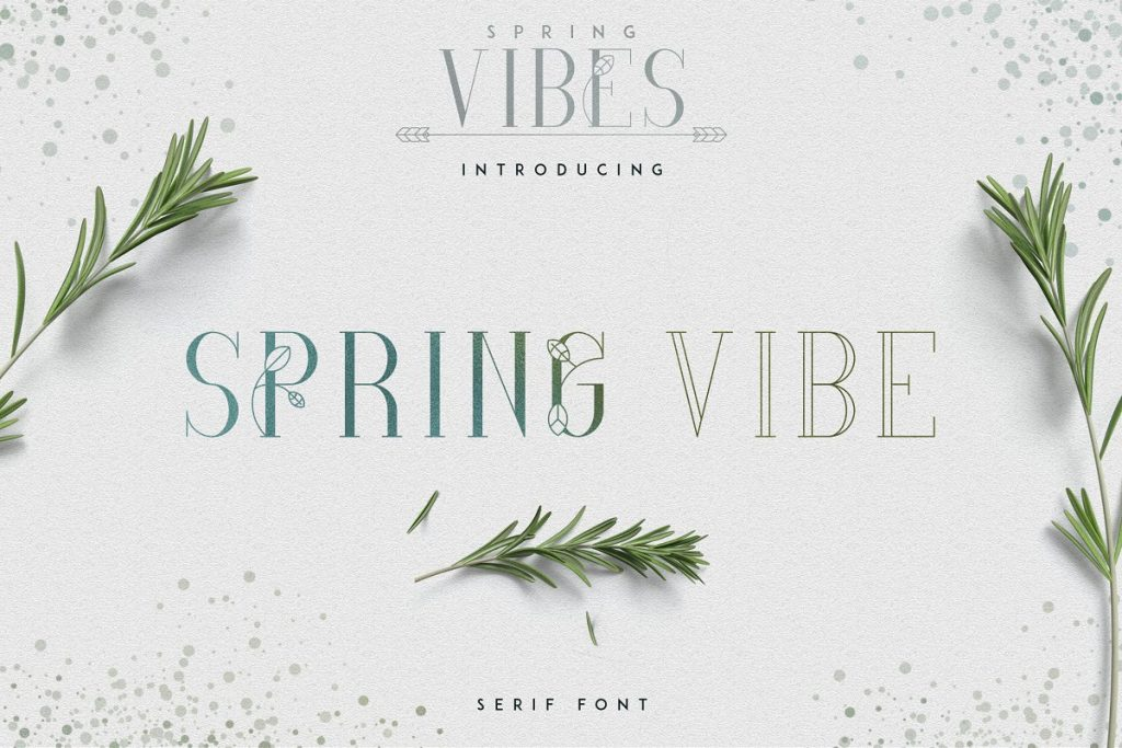 Spring Font with 30% OFF - SpringVibe Serif Font - 1
