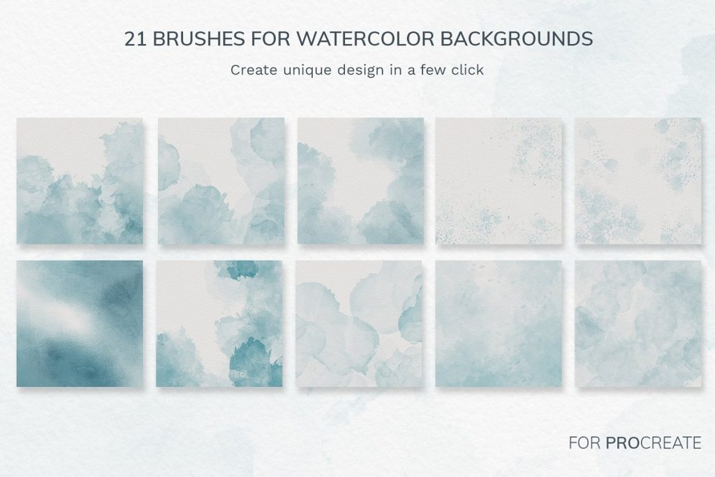38 Procreate Watercolor Brush Set - $14 - 1 2 2