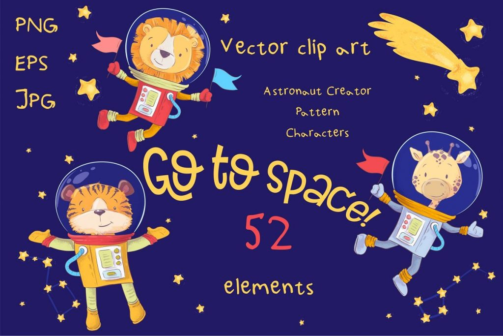 Space ClipArt Vector  - $14 - 1 2