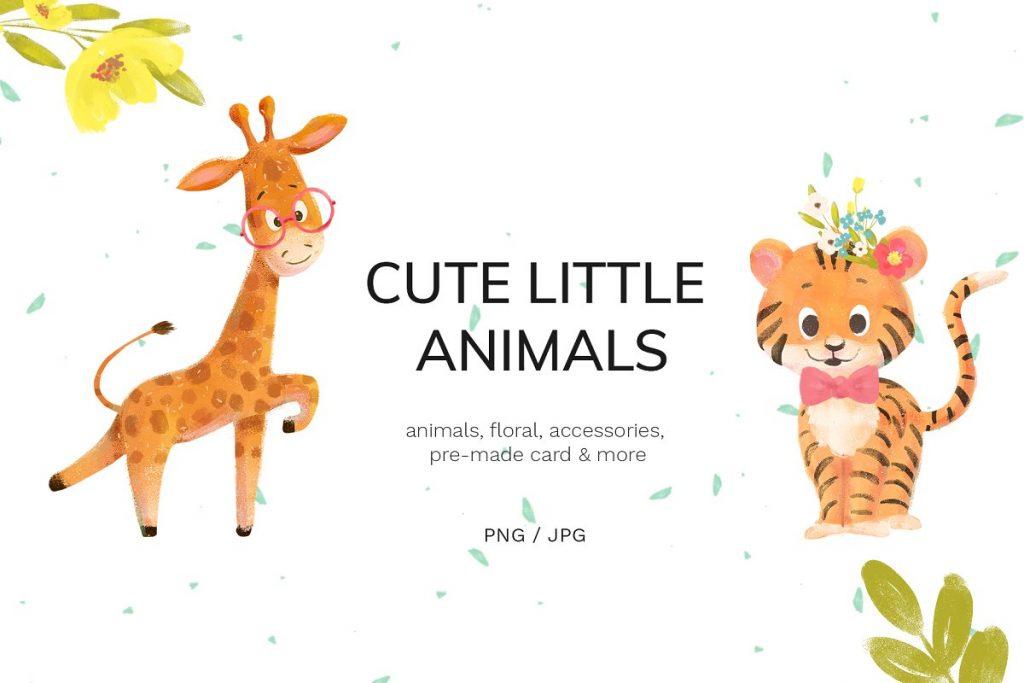 30 Wild Little Animals Hand-drawn Illustrations - 1 3 1