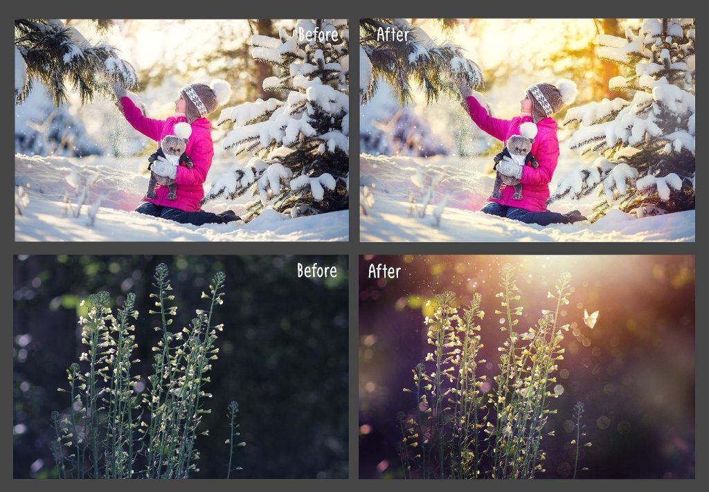60 Natural Sunlight Photoshop Add-Ons $8 - 1