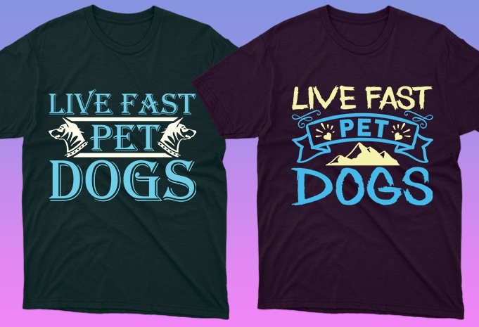 Dog Shirt: 50 Dog Quotes Editable T-shirt Designs Bundle -  $15 - 10 25 1
