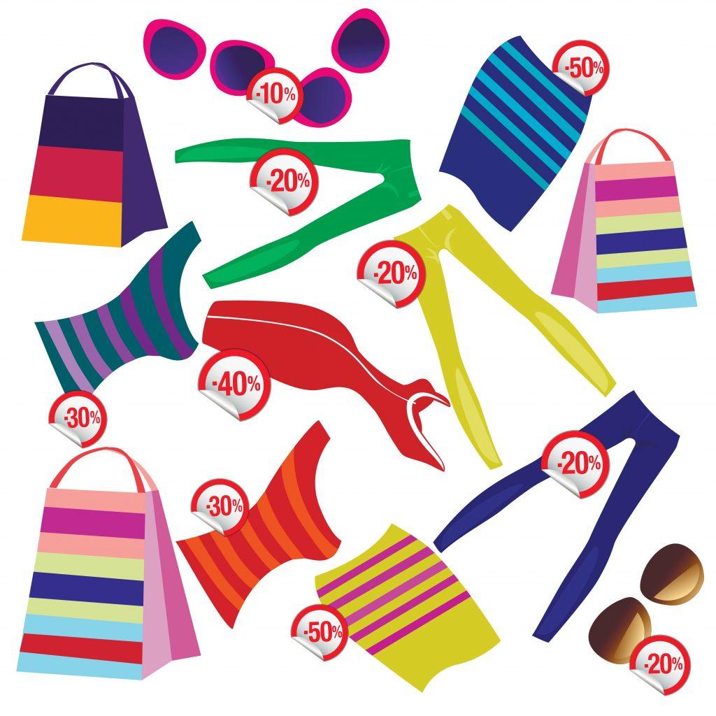Fashion Illustration Bundle: Clothing Business Icons and illustrations - 12637596