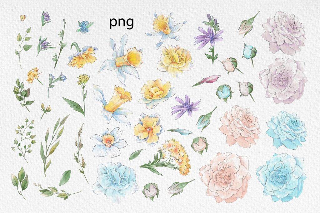 Spring Watercolor Illustrations:  Girls  + Free Bonus - $22 - 14