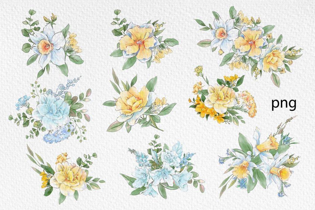 Spring Watercolor Illustrations:  Girls  + Free Bonus - $22 - 15