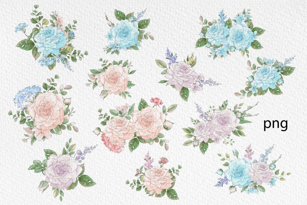 Spring Watercolor Illustrations:  Girls  + Free Bonus - $22 - 16