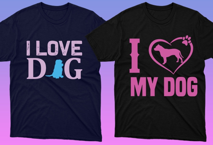 Dog Shirt: 50 Dog Quotes Editable T-shirt Designs Bundle -  $15 - 16 18 1