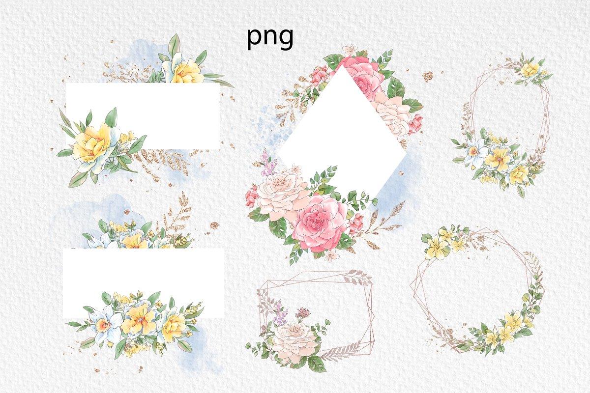 Spring Watercolor Illustrations:  Girls  + Free Bonus - $22 - 19