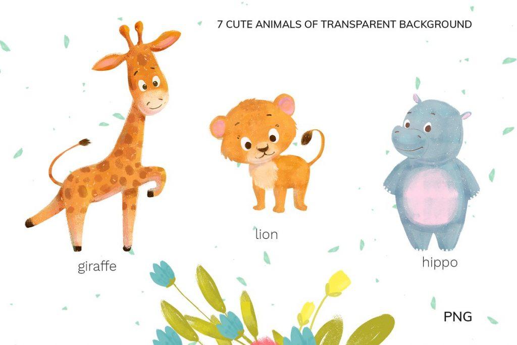 30 Wild Little Animals Hand-drawn Illustrations - 2 3 1