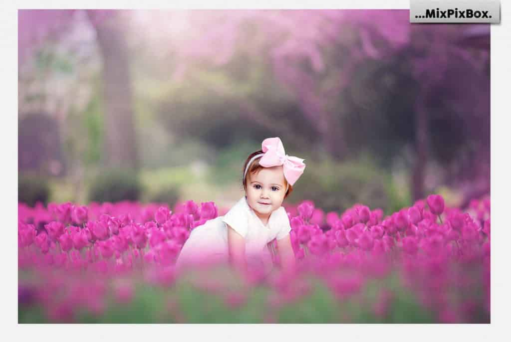 Spring Tulips Backdrop Photoshop Add-Ons - $9 - 2 8