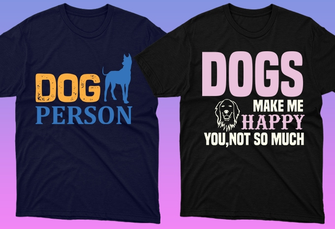 Dog Shirt: 50 Dog Quotes Editable T-shirt Designs Bundle -  $15 - 20 16 1