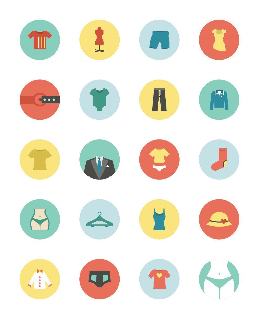 Fashion Illustration Bundle:  Clothing Business Icons and illustrations - 20169058