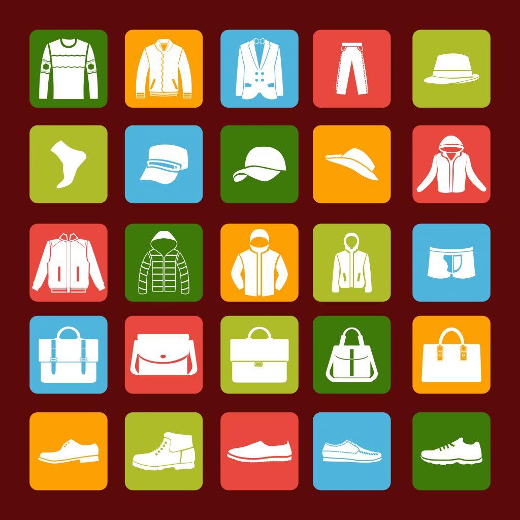 Fashion Illustration Bundle:  Clothing Business Icons and illustrations - 22888298
