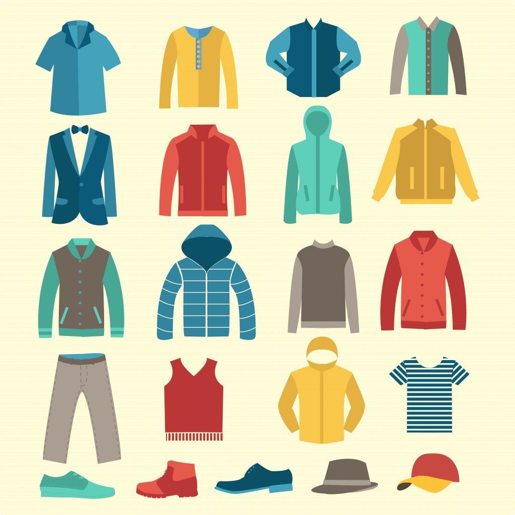 Fashion Illustration Bundle:  Clothing Business Icons and illustrations - 22888366
