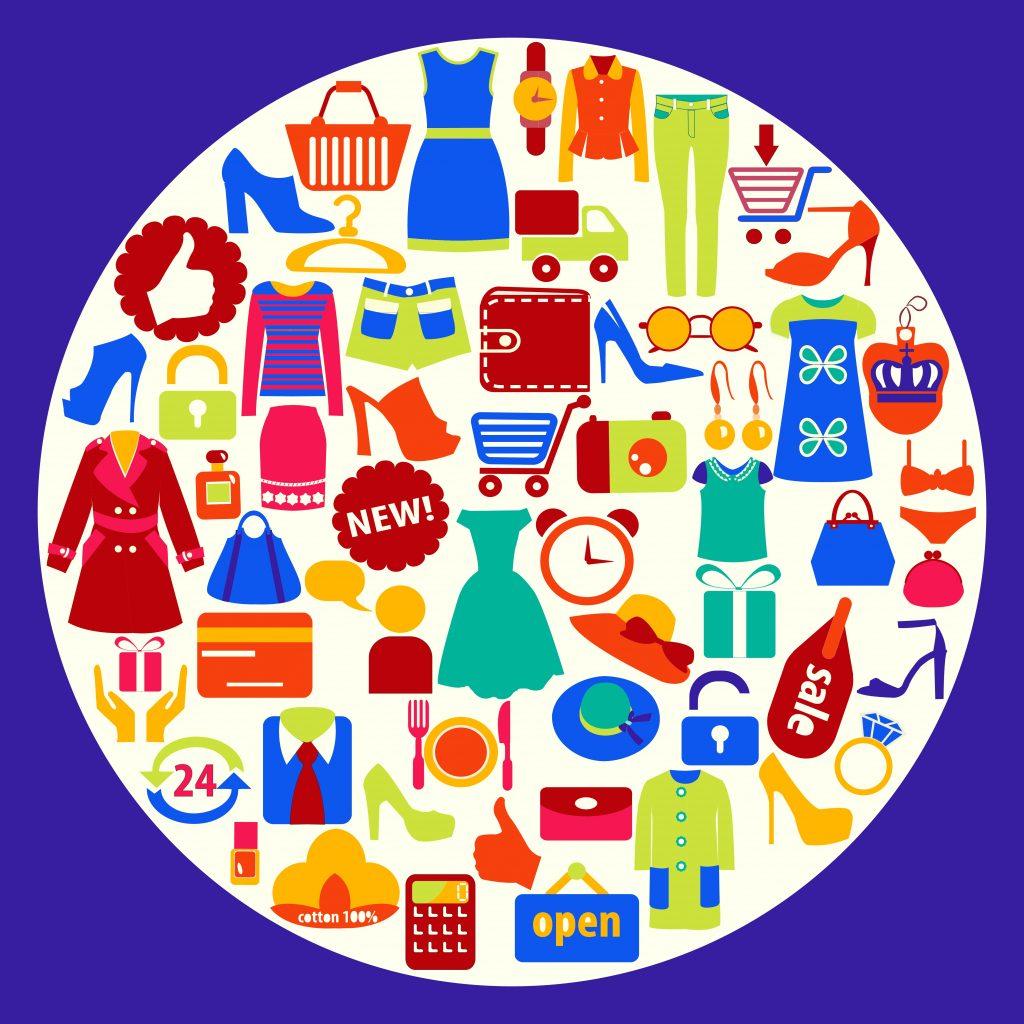 Fashion Illustration Bundle:  Clothing Business Icons and illustrations - 22893808