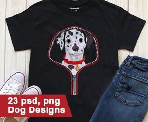 Minimalist T-shirt Design: 600 Mega Editable T-shirt Designs Bundle – 99% off - 23 dog t shirt designs bundle