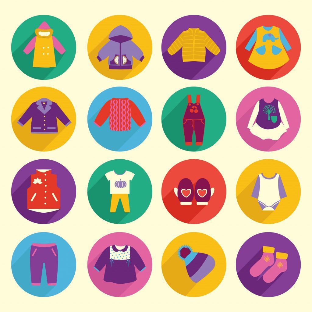 Fashion Illustration Bundle:  Clothing Business Icons and illustrations - 23031898