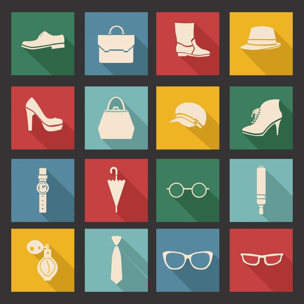 Fashion Illustration Bundle: Clothing Business Icons and illustrations - 23150296