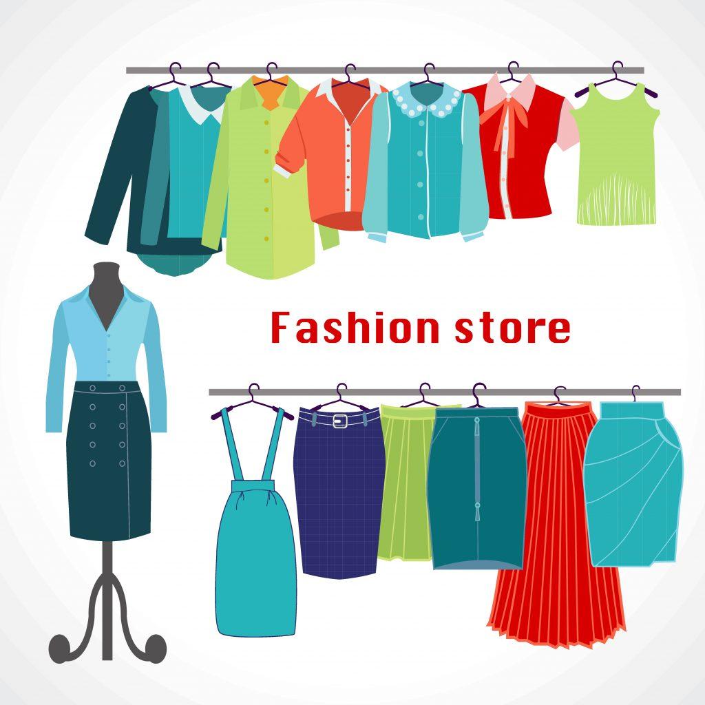 Fashion Illustration Bundle:  Clothing Business Icons and illustrations - 23206606