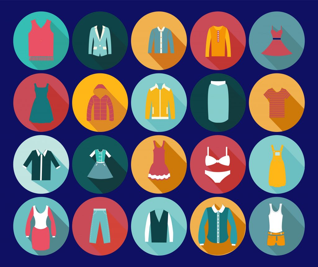 Fashion Illustration Bundle: Clothing Business Icons and illustrations - 23240060