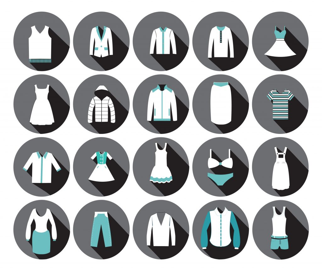 Fashion Illustration Bundle:  Clothing Business Icons and illustrations - 23240142