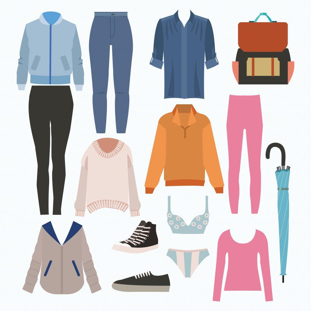 Fashion Illustration Bundle: Clothing Business Icons and illustrations - 25187658