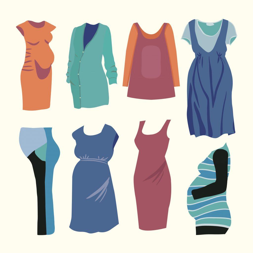 Fashion Illustration Bundle:  Clothing Business Icons and illustrations - 25305592