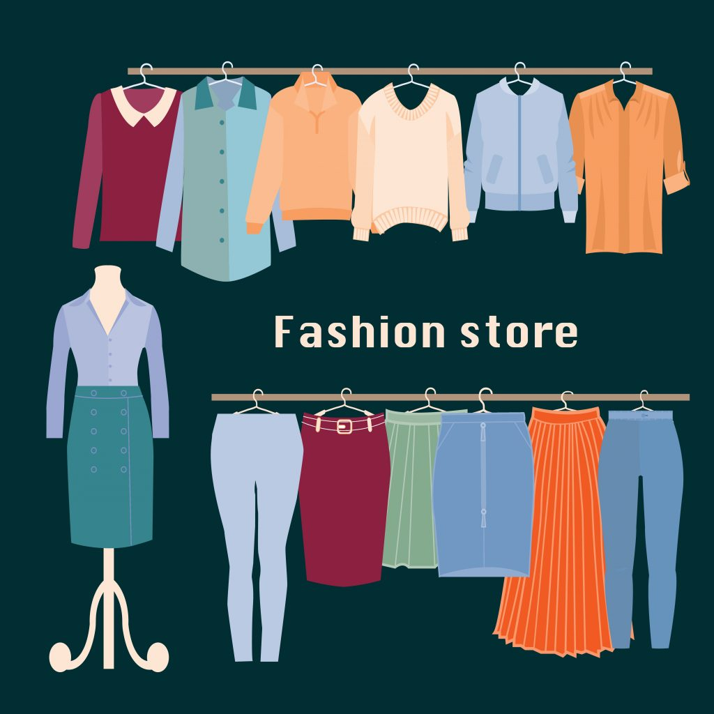 Fashion Illustration Bundle: Clothing Business Icons and illustrations - 25317136
