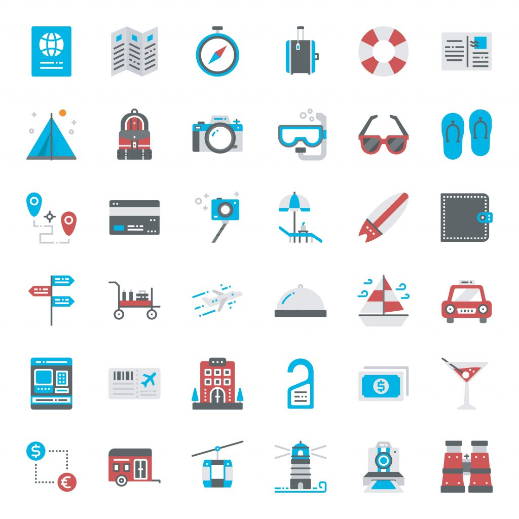 Travel Icon & Illustrations: Vacation Pack - $13 - 26461534 1