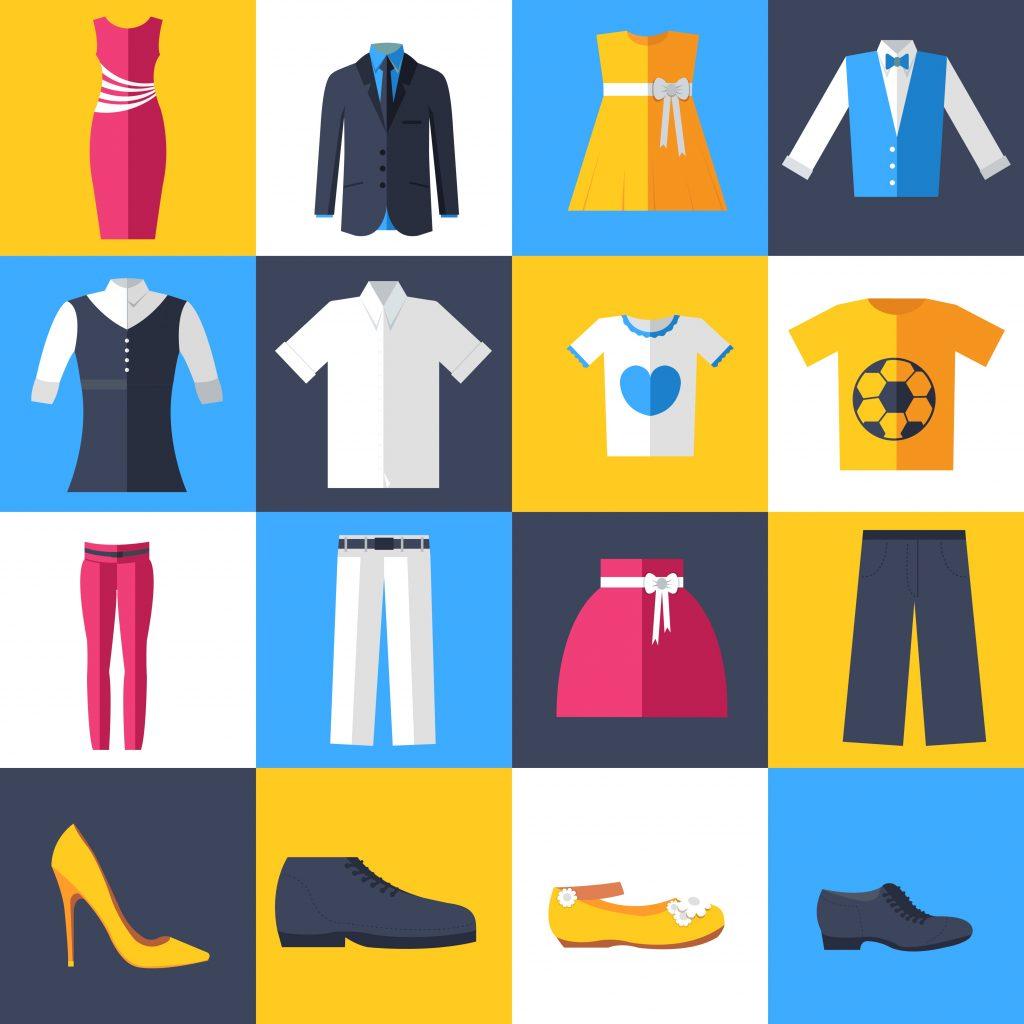 Fashion Illustration Bundle: Clothing Business Icons and illustrations - 27185544