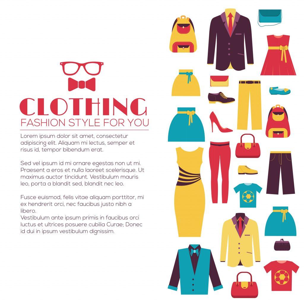 Fashion Illustration Bundle:  Clothing Business Icons and illustrations - 27218262