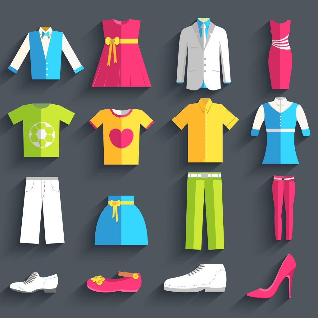 Fashion Illustration Bundle:  Clothing Business Icons and illustrations - 27220138