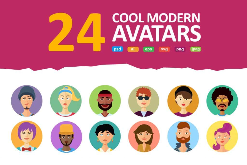 24 Avatars vector Flat People Icons - $11 - 3b3d8eade6079fc63be9adf35f255b7e resize