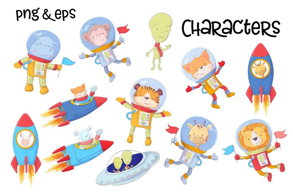 Space ClipArt Vector  - $14 - 4