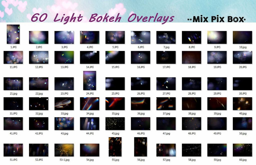 60 Light Bokeh Overlays - $8 - 4 1