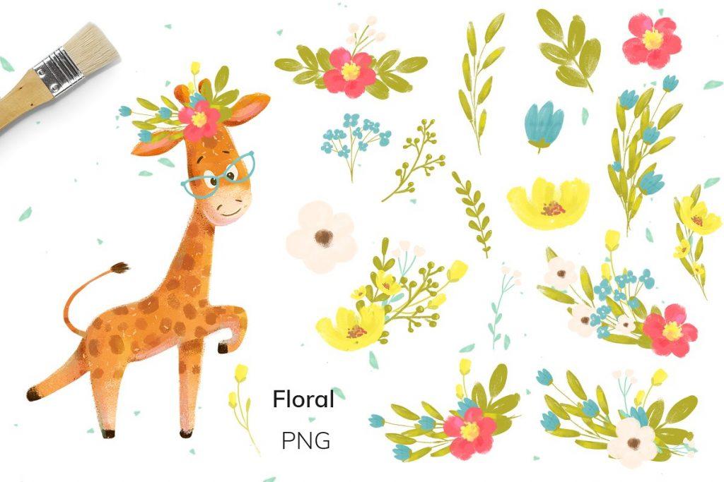 30 Wild Little Animals Hand-drawn Illustrations - 4 4 1