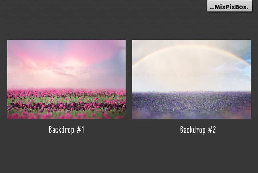 20 Unicorn Overlays Pack & Backdrops | PNG - 4 5