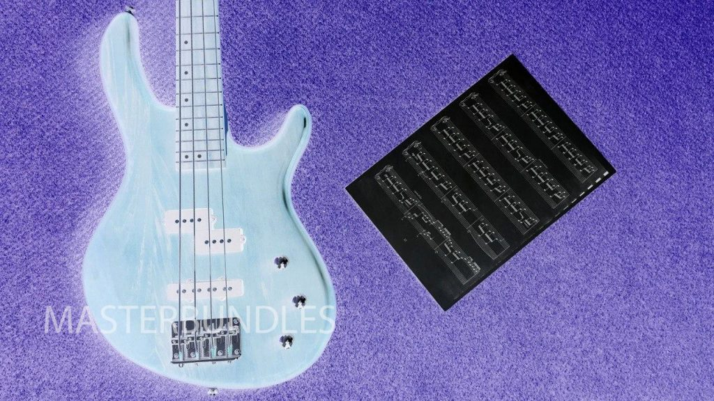 Guitar Background Bundle: 10 Music Backgrounds Invert Style - 6 copy