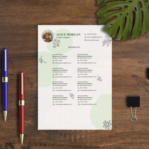 Professional Resume Template 2020. Clean Resume Template – Only $9! - 600 17 490x490