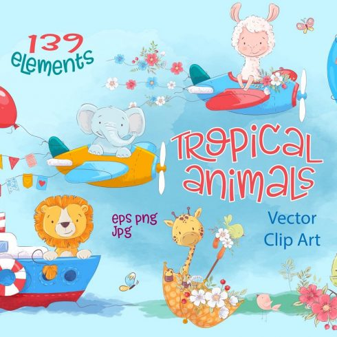 Poppies Clipart & Fox vector - $12 - 600 8 490x490