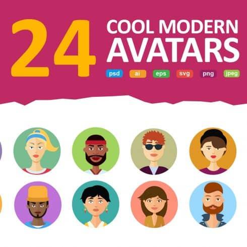 24 Avatars vector Flat People Icons - $11 - 602 490x490