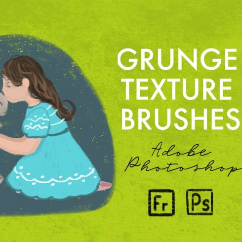 15 Grunge Texture Brushes - Photoshop Add-Ons - $11 only - 690 3 490x490