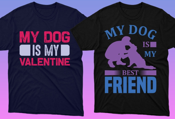 Dog Shirt: 50 Dog Quotes Editable T-shirt Designs Bundle -  $15 - 8 28 1